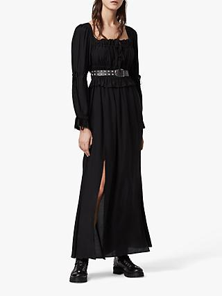 AllSaints Kimi Ruched Maxi Dress