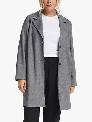 Persona by Marina Rinaldi Check Jersey Coat, Grey