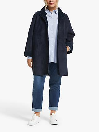 Persona by Marina Rinaldi Eden Reversible Boucle Coat, Navy