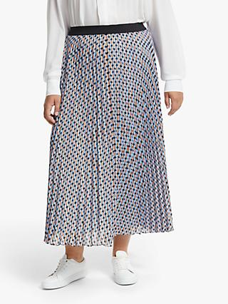 Persona by Marina Rinaldi Cairo Geo Print Pleated Skirt, Multi
