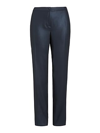 Persona by Marina Rinaldi Reano Straight Leg Trousers, Navy