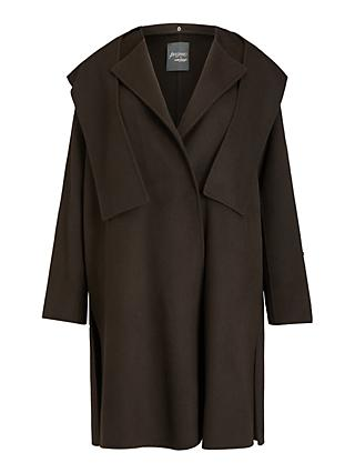 Persona by Marina Rinaldi Tamoa Hooded Double Faced Coat, Chocolate Brown