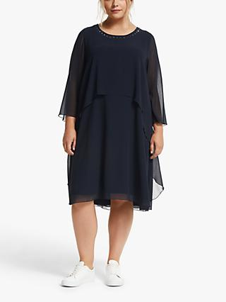 Persona by Marina Rinaldi Duo Georgette Dress, Navy