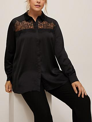 Persona by Marina Rinaldi Fama Lace Detail Shirt, Black