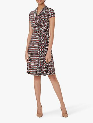 Hobbs April Wrap Dress, Multi