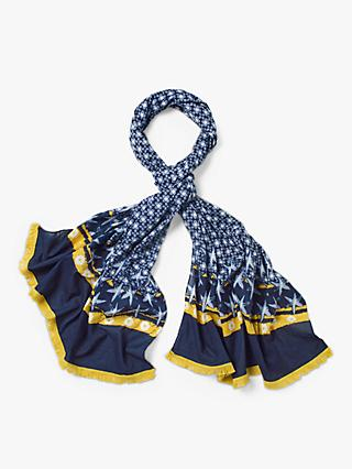 White Stuff Carrie Organic Cotton Scarf, Dark Navy