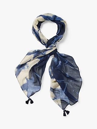 White Stuff Margie Print Scarf, Dark Navy