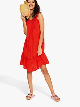 White Stuff Sea Lily Beach Dress, Tomato Red