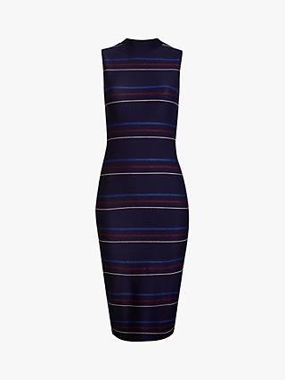 Ted Baker Erlo Stripe Midi Dress, Navy