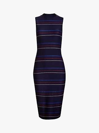 Ted Baker Erlo Stripe Midi Dress, Navy