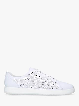 Cole Haan Women's GrandPrø Tennis Embroidered Flatform Trainers, White