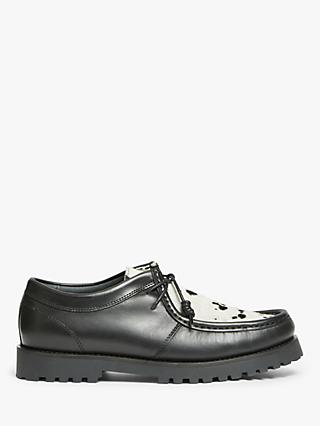 John Lewis & Partners Pony Hair Trapper Shoes, Black