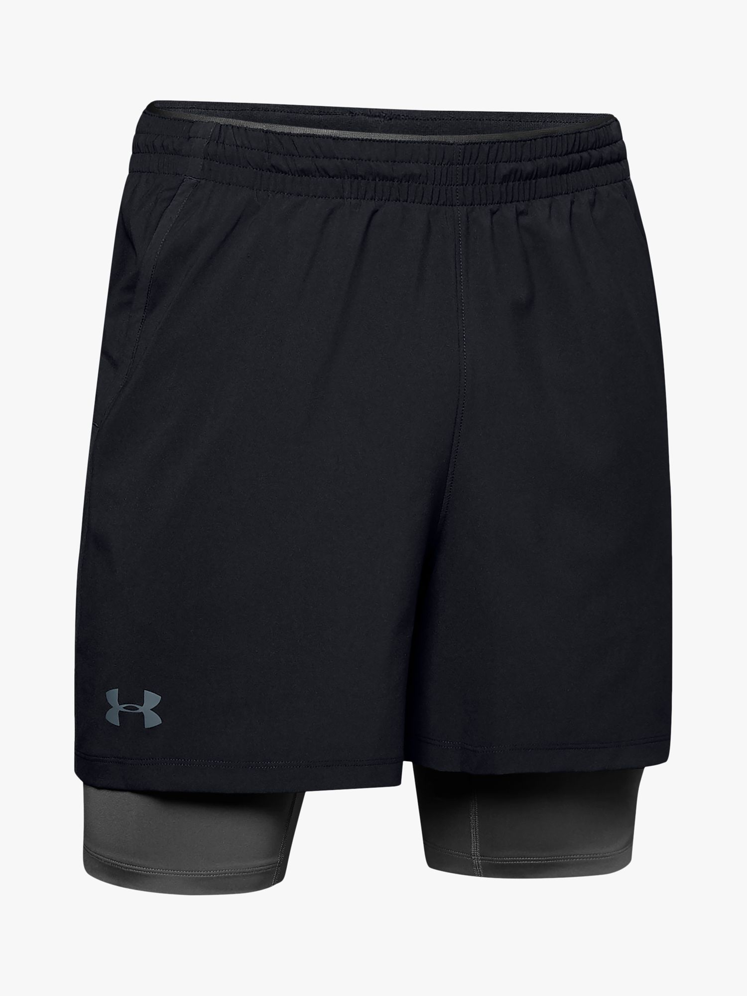 Under Armour Qualifier 2-in-1 Training Shorts, Black