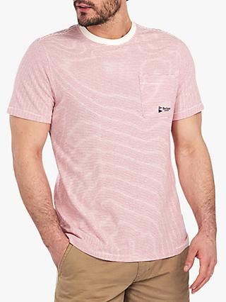 Barbour International Heritage Stripe T-Shirt, BE11 Natural