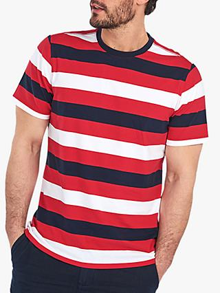Barbour Duridge Stripe T-Shirt, RE 42 Red