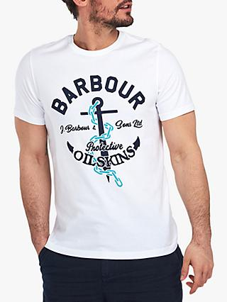 Barbour Harbour T-Shirt, WH11 White