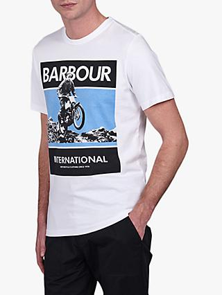 Barbour International Frame T-Shirt, WH11 White
