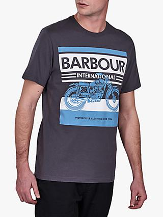 Barbour International Burn T-Shirt, GY59 Grey