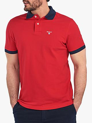 Barbour Lynton Short Sleeve Polo Shirt, RE42 Red