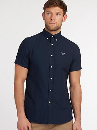 Barbour Short Sleeve Oxford Shirt, NY91 Blue
