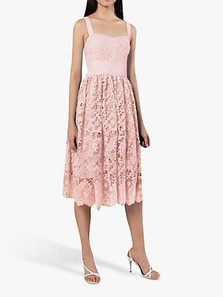 French Connection Elsa Lace Midi Bridesmaid Dress