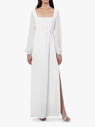 French Connection Aadina Crepe Column Maxi Wedding Dress, Summer White