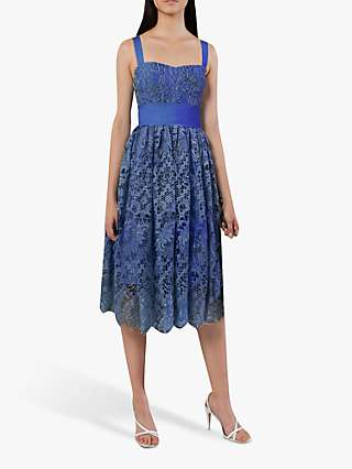 French Connection Elsa Lace Midi Bridesmaid Dress