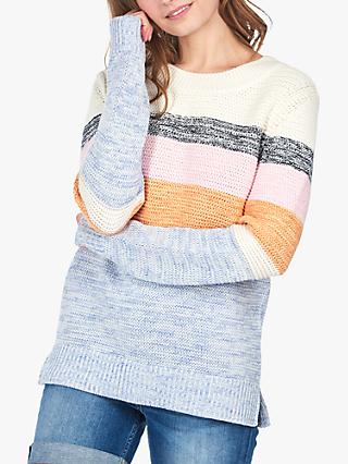 Barbour Seaford Stripe Jumper, Off White