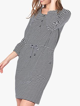 Barbour Mersey Stripe Dress, Navy