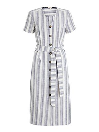 Barbour Dover Stripe Dress, Navy/White