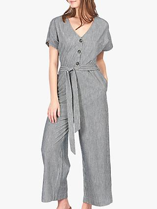 Barbour Dover Stripe Jumpsuit, Chambray