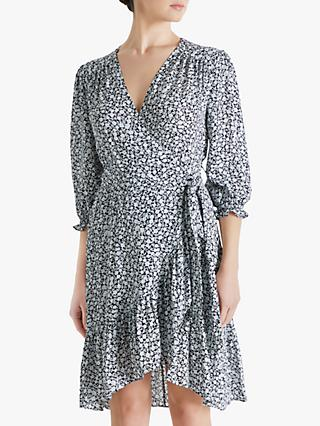Fenn Wright Manson Amanda Holden Collection Pippa Floral Print Wrap Dress, Ivory