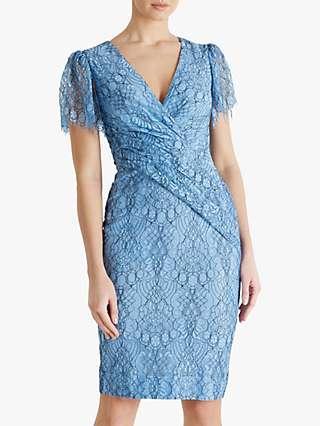 Fenn Wright Manson Amanda Holden Collection Kate Floral Dress, Pale Blue