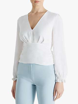 Fenn Wright Manson Amanda Holden Collection Kelly V-Neck Blouse, Ivory