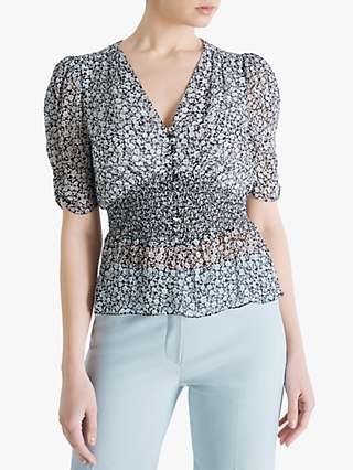 Fenn Wright Manson Amanda Holden Collection Natalie Floral Print Top, Ivory