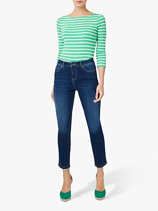 Hobbs Belle Ankle Grazer Jeans, Mid Wash