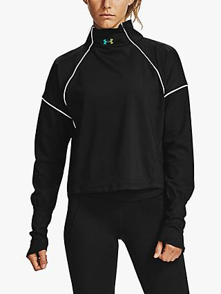 Under Armour Rush ColdGear® 1/2 Zip Long Sleeve Training Top, Black