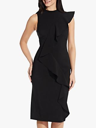 Adrianna Papell Ruffle Pencil Dress, Black