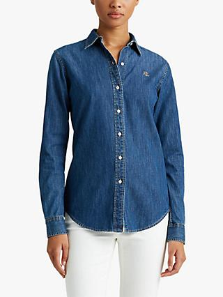 Lauren Ralph Lauren Jamelko Shirt, Bright Medium Wash