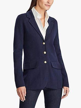 Lauren Ralph Lauren Ayelee Cotton Jacket, Navy