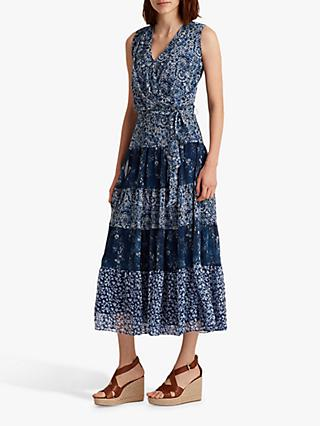 Lauren Ralph Lauren Adnan Floral Maxi Dress, Blue