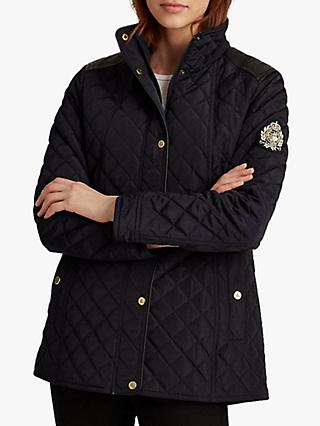 Lauren Ralph Lauren Quilted Crest Jacket, Dark Navy