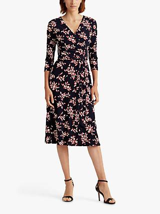 Lauren Ralph Lauren Carlyna Floral Print Day Dress, Navy/Multi