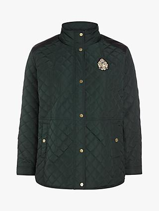 Lauren Ralph Lauren Curve Quilted Crest Jacket, Hunter Green