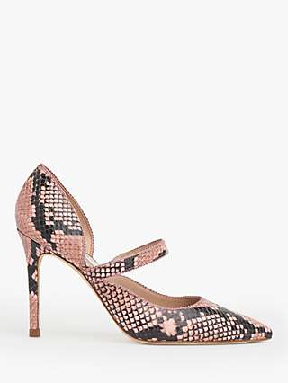 L.K.Bennett Florence Snake Print Leather Court Shoes