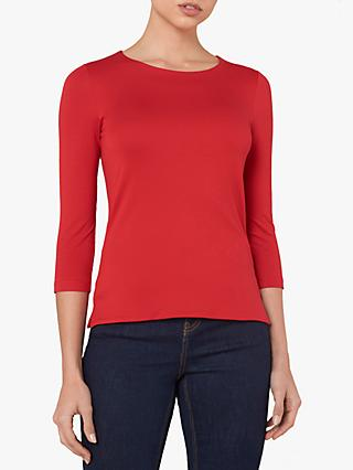 Jaeger Essential Long Sleeved Top, Red