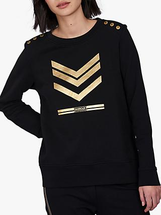 Barbour International Lightning Chevron Sweatshirt, Black