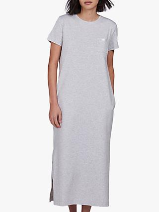 Barbour International Spitfire Maxi Dress, Pale Grey Marl