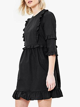 Oasis Frill Trim Shift Dress, Black