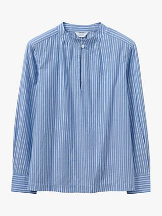Toast Jakob Stripe Cotton Shirt, Blue